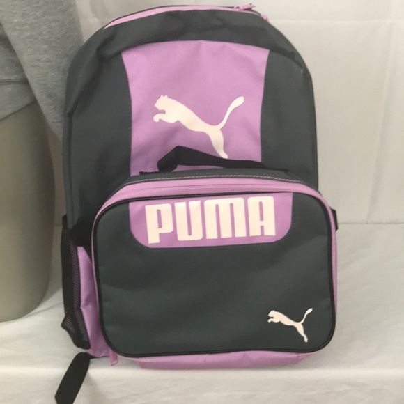 9700a02cca53 Puma Pink Grey Grub Combo 2.0 Backpack Lunch Bag